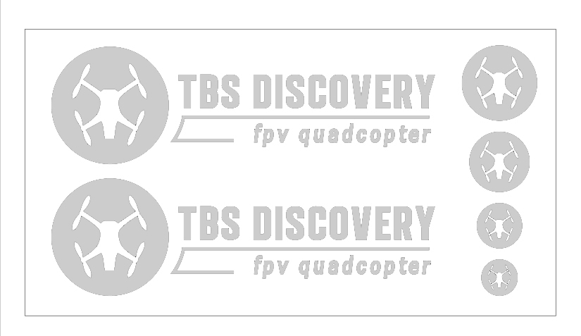 TBS DISCOVERY ステッカー白