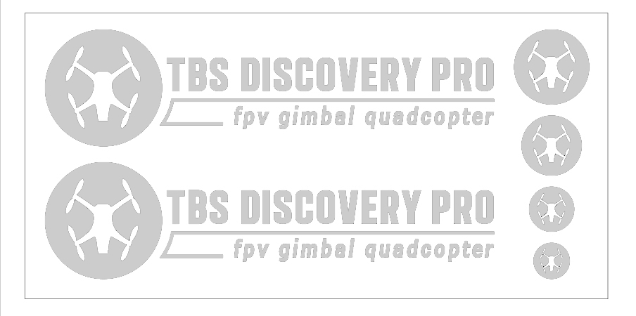 TBS DISCOVERY PRO ステッカー白