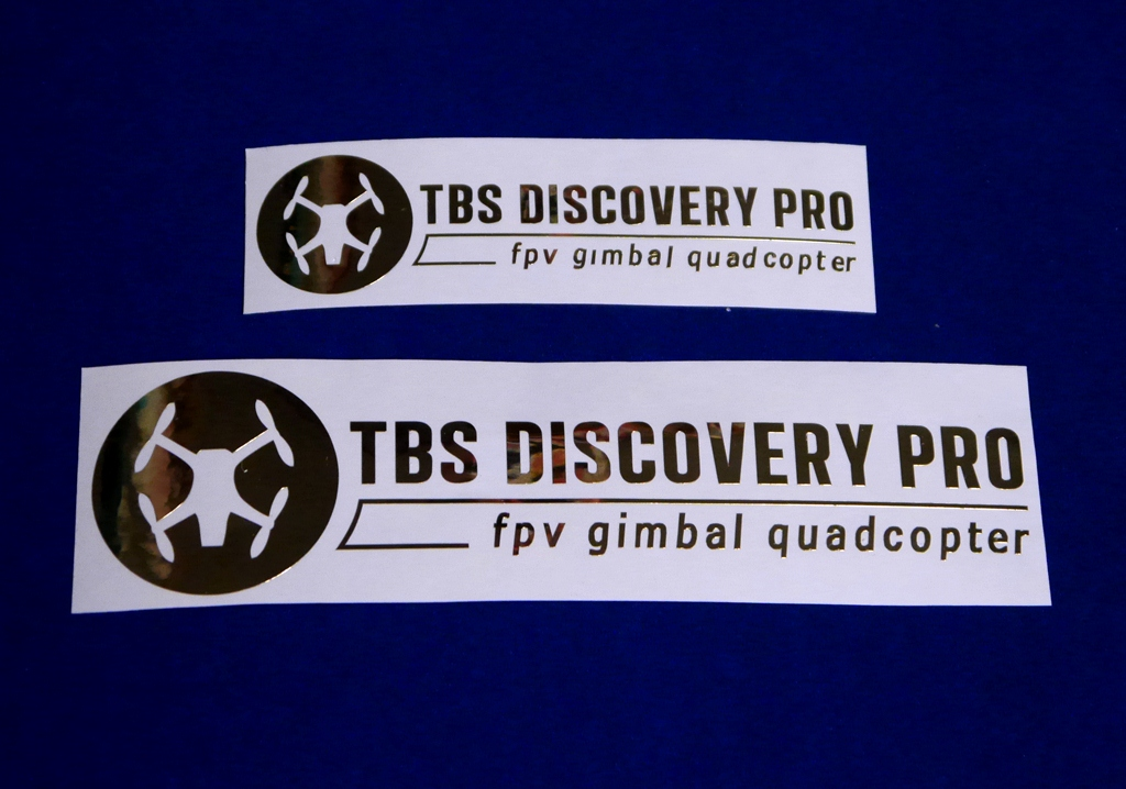 TBS DISCOVERY PRO ステッカーGold 大