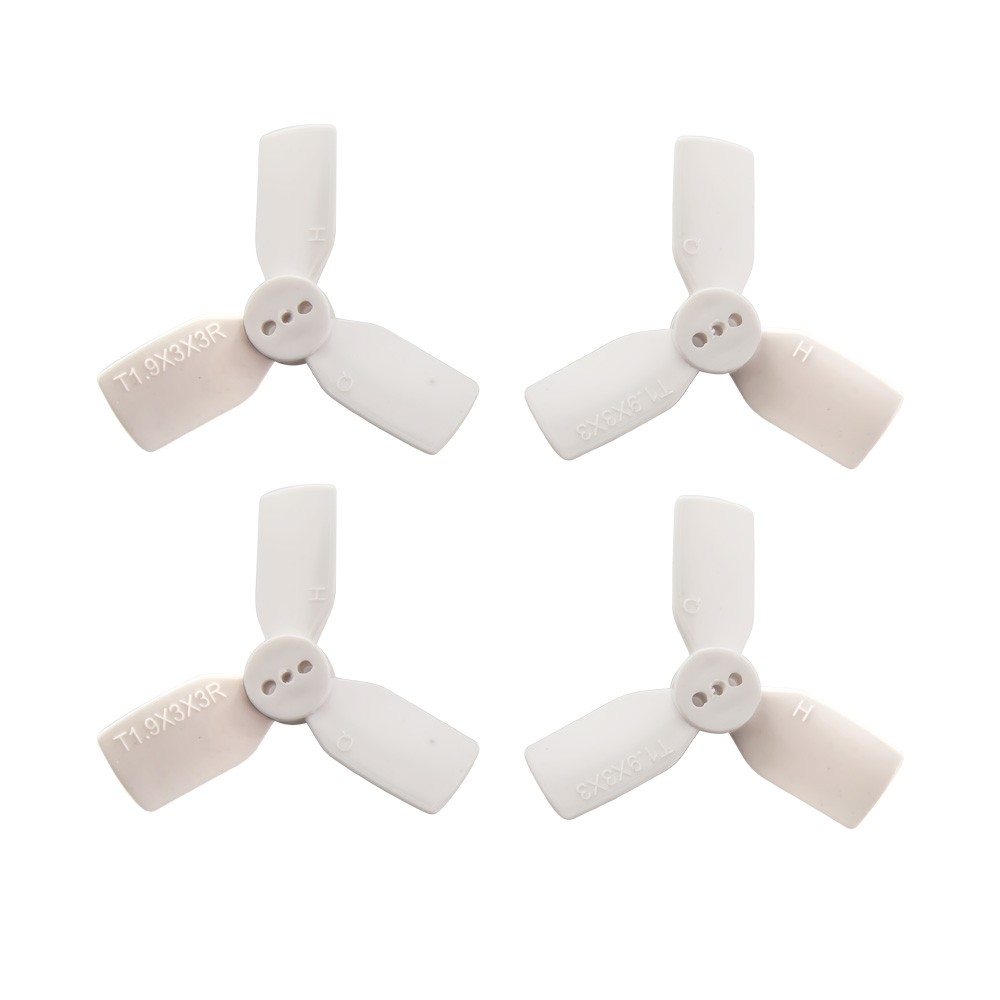 HQProp 1.9x3x3 PC White Quad Propeller - Set of 4 (2x CW, 2