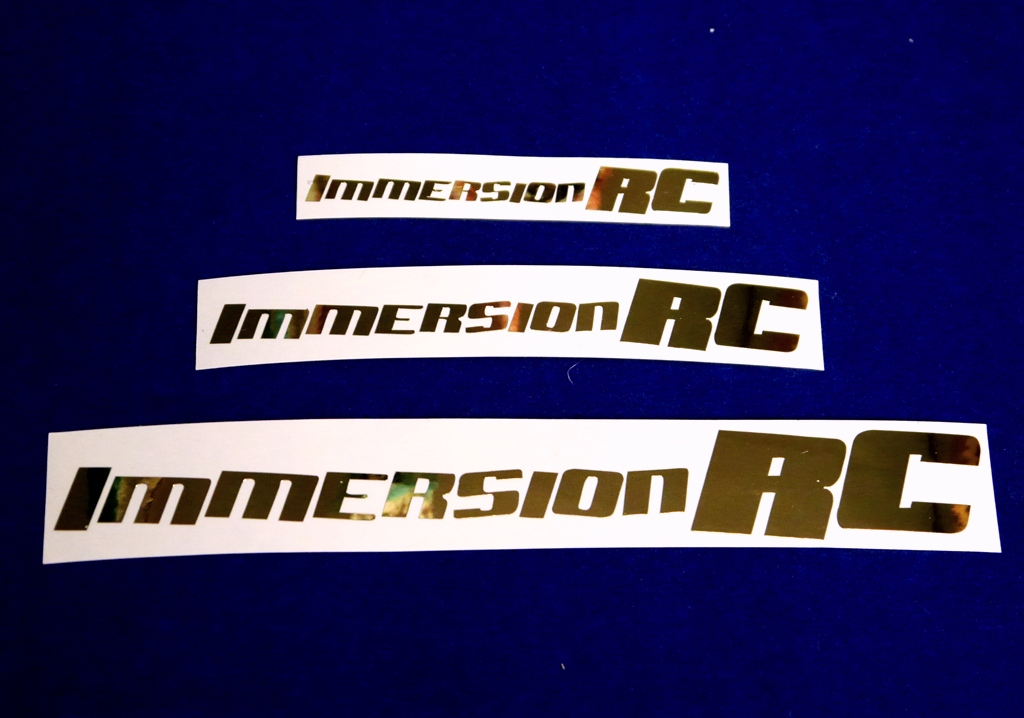 Immersion RC ステッカーGold 大