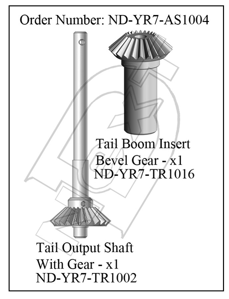 ND-YR7-AS1004 - Tail Output Shaft R7