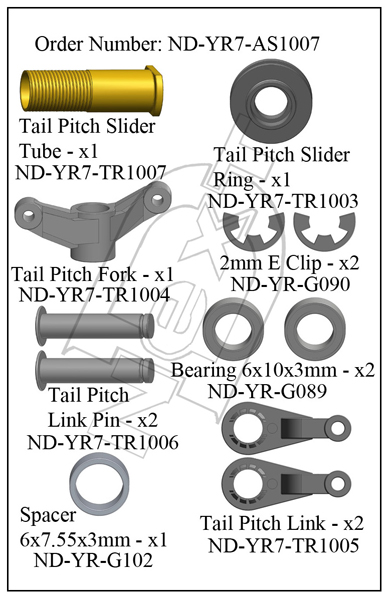 ND-YR7-AS1007 - Tail Pitch Slider Assembly R7