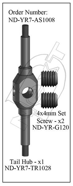 ND-YR7-AS1008 - Tail Rotor Hub Set R7