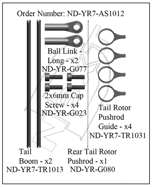 ND-YR7-AS1012 - Tail Boom Set R7