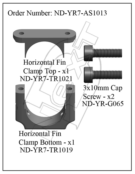 ND-YR7-AS1013 - Horizontal Fin Clamp Set R7