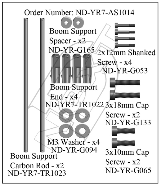 ND-YR7-AS1014 - Boom Support Set R7