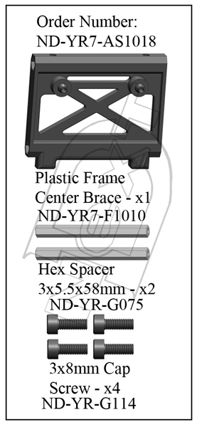 ND-YR7-AS1018 - Plastic Center Frame Brace Set R7