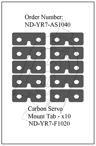 ND-YR7-AS1040 - Servo Mount Tab Set R7