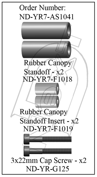 ND-YR7-AS1041 - Front Canopy Standoff Set R7