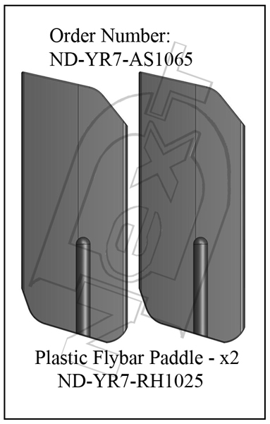 ND-YR7-AS1065 - Plastic Flybar Paddles R7