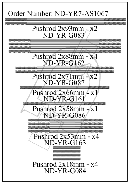 ND-YR7-AS1067 - Pushrod Set R7