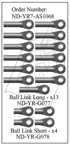 ND-YR7-AS1068 - Ball Link Set R7