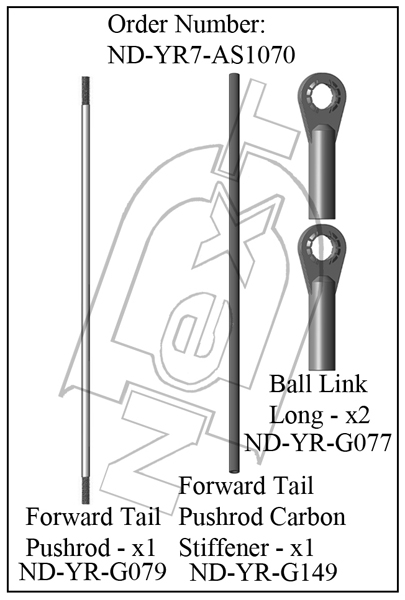 ND-YR7-AS1070 - Front Tail Pushrod Set R7