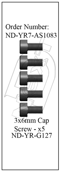ND-YR7-AS1083 - Main Gear Mounting Screw Set R7