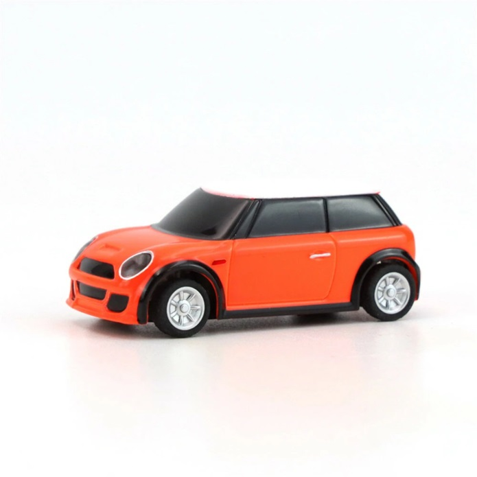 Turbo Racing RTR 1/76 2.4G 2WD Mini RC Car LED Light-Orange