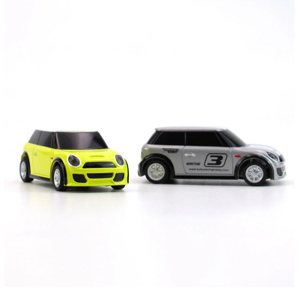 Turbo Racing RTR 1/76 2.4G 2WD Mini RC Car LED Light-Yellow