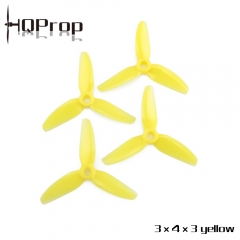 HQ Durable Prop 3X4X3 Yellow (2CW+2CCW)-Poly Carbonate