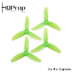 HQ Durable Prop 3X4X3 Green (2CW+2CCW)-Poly Carbonate