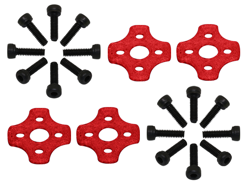 RKH TPU 11xx Motor Soft Mount (4) (Red) - Blade Torrent 110 FP