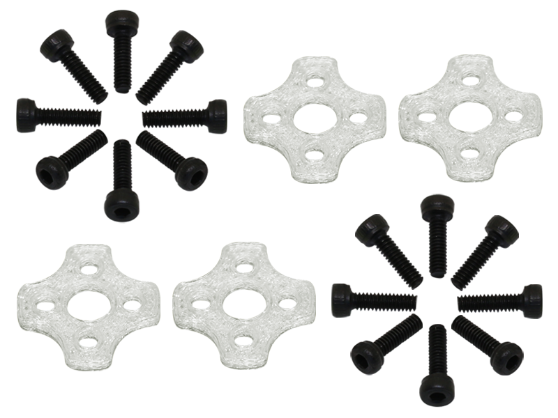 RKH TPU 11xx Motor Soft Mount (4) (White) - Blade Torrent 110 FP