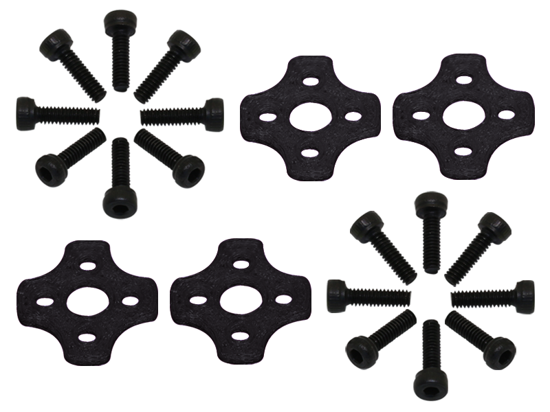 RKH TPU 11xx Motor Soft Mount (4) (Black) - Blade Torrent 110 FP