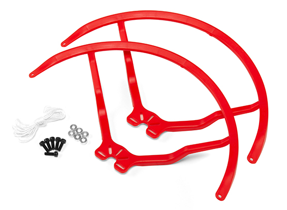 9 Inch Plastic Universal Multi-Rotor Propeller Guard - Red (2s