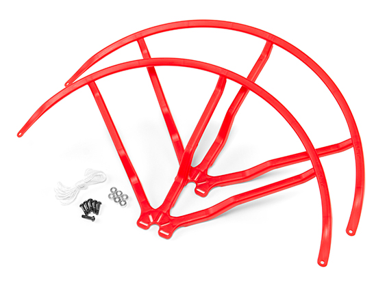 10 Inch Plastic Universal Multi-Rotor Propeller Guard - Red (2