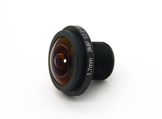 1.7mm Super Wide Lens CCD, F2.0 ,185°