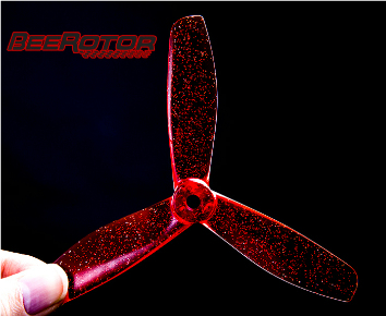 BeeRotor 5045-3 3DX Red Props (2 pairs)