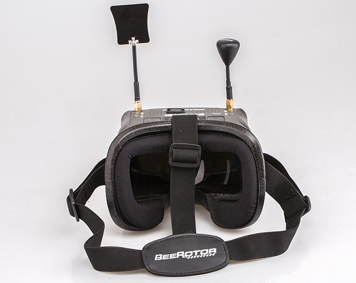 "BeeRotor BVONE 5.8G 40CH Diversity FPV DVR Goggles 5"" LCD"
