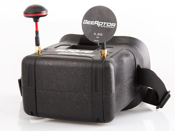"BeeRotor BVONE 5.8G 40CH Diversity FPV Goggles Build-In 5"" LCD V"