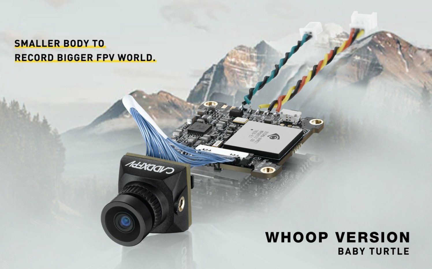 Caddx Baby Turtle Whoop FPV Camera DVR HD Recording OSD(BLACK)