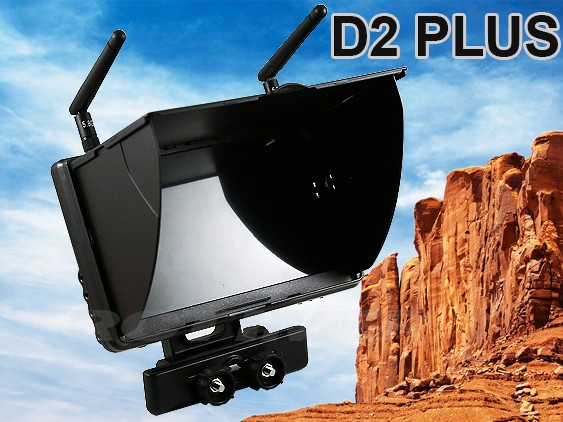 Boscam Galaxy D2 PLUS FPV 5.8G 32CH 7 Inch LCD Monitor With Suns