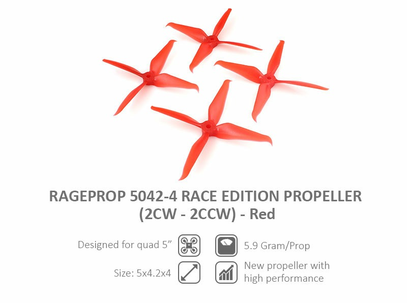 Furious RageProp 5042-4 Race Edition Propeller (2CW - 2CCW) - Re