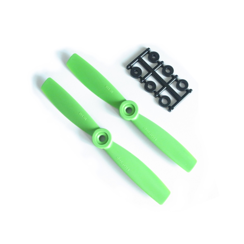 HQ-Prop 5x4.5 Bullnose Set (2x CW) Green
