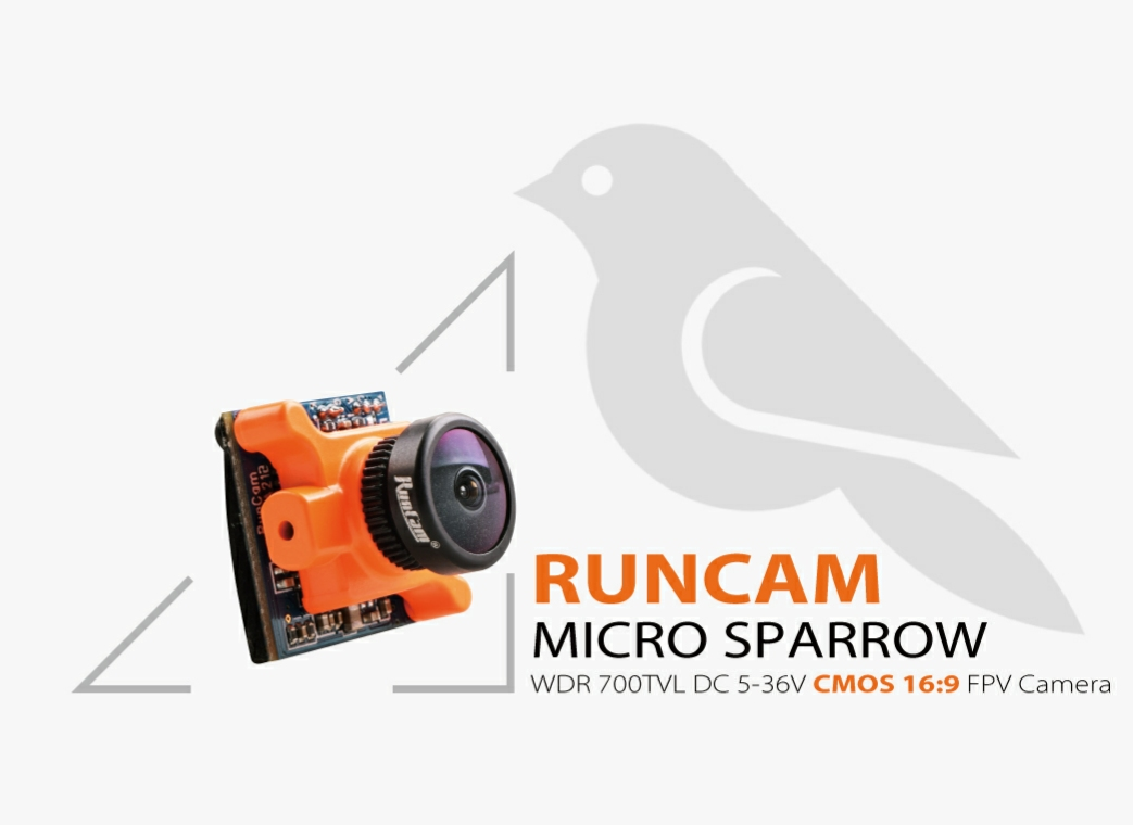 RunCam Micro Sparrow Orange FPV CMOS Camera 2.1mm (NTSC)