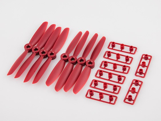 "4x4.5"" Mini FPV Racing Propellers CW CCW (Red)"