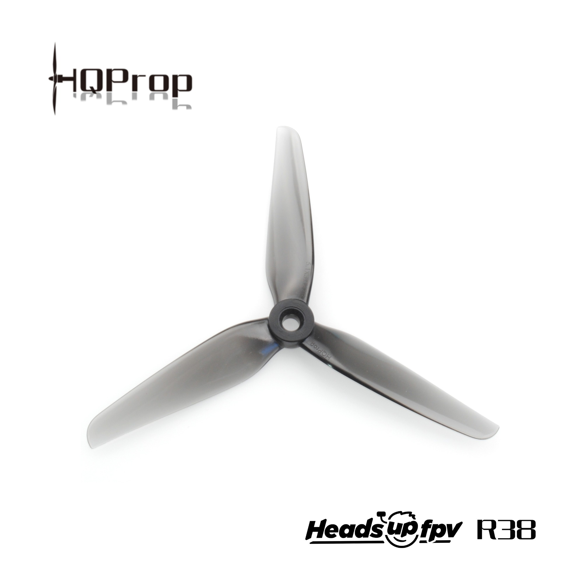 HQ HeadsUp Racing Prop R38 Gray (2CW+2CCW)-Poly Carbonate