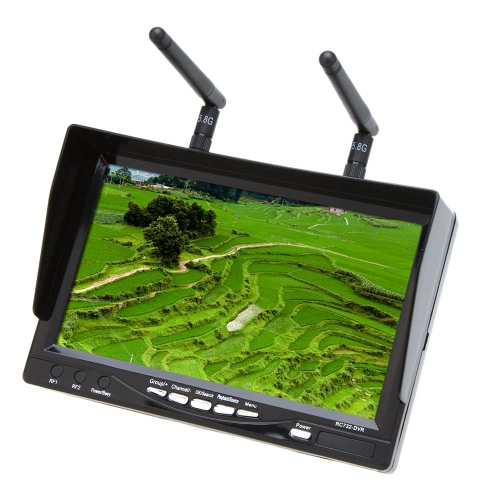 RC732-DVR 7 inch 5.8GHz 32CH LCD Diversity Receiver FPV Monitor