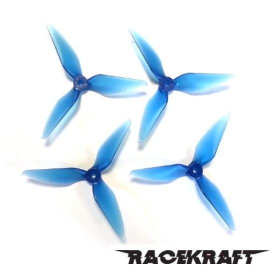 RaceKraft 5051 Tri-Blade (Set of 4 - Clear Blue)