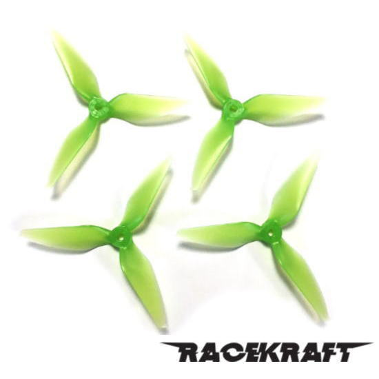 RaceKraft 5051 Tri-Blade (Set of 4 - Clear Green)