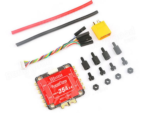 Racerstar REV35 35A BLheli_S 3-6S 4 In 1 ESC Built-in Current Se