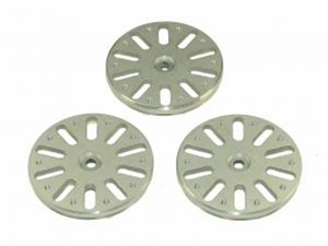 Quick UK TREX 600/700 Flybarless Servo Wheel Set - Futaba (Silve
