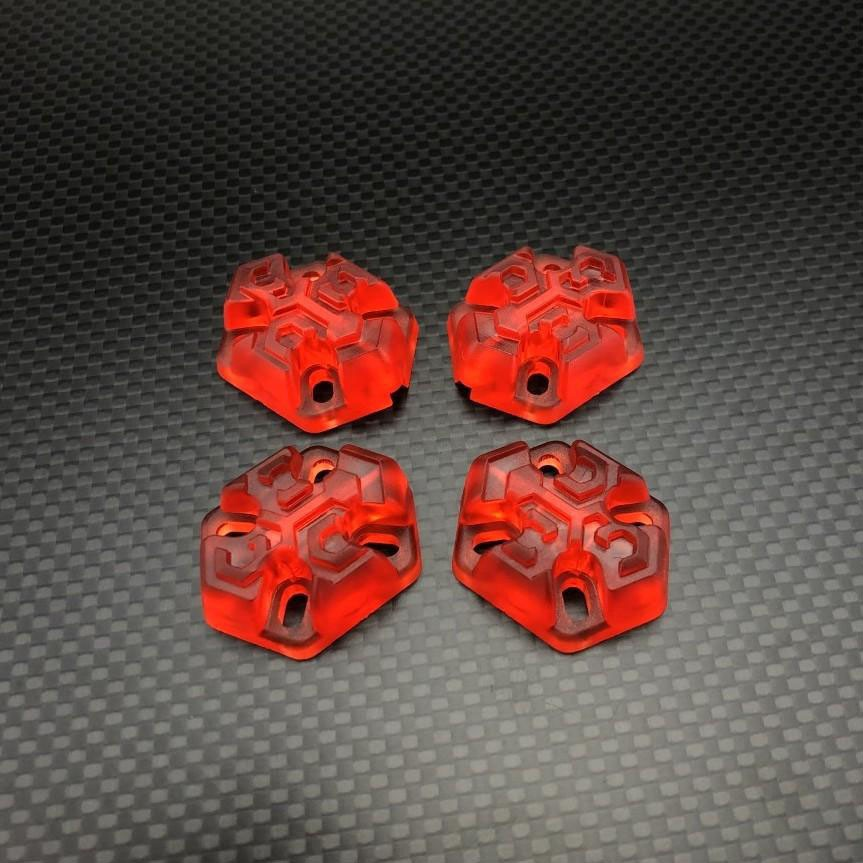 FPVCrate Lume Skids (Set of 4)Red