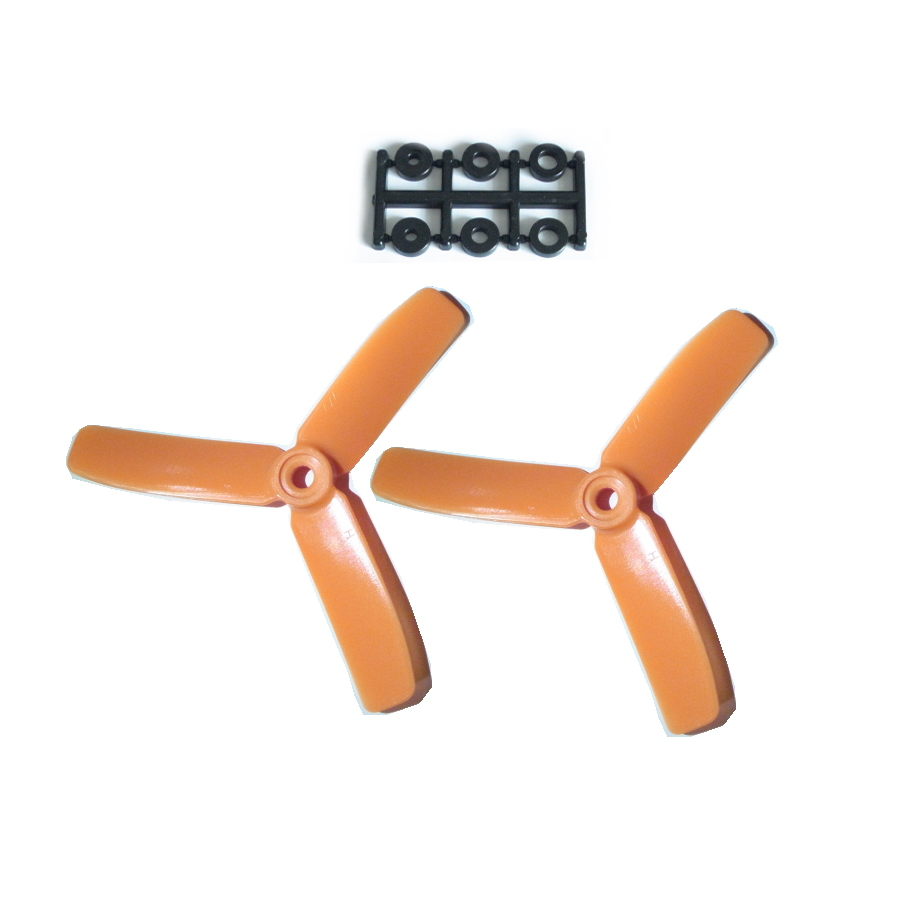 HQ-Prop 4x4x3 Set (2x CCW) Orange