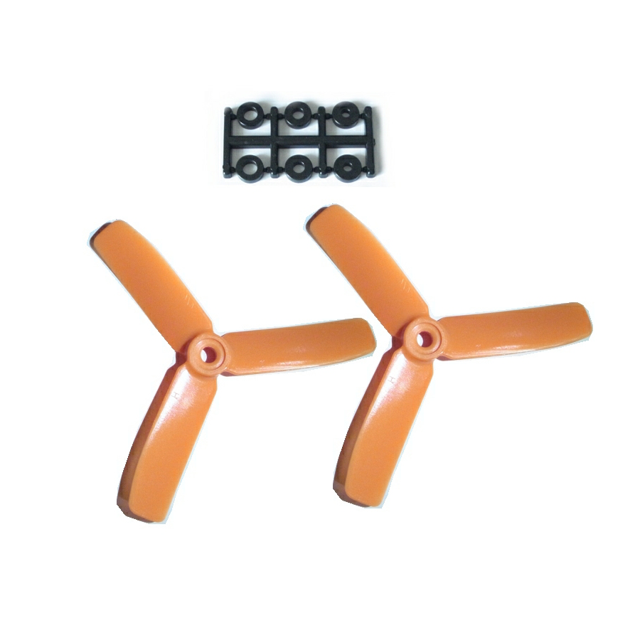HQ-Prop 4x4x3 Set (2x CW) Orange