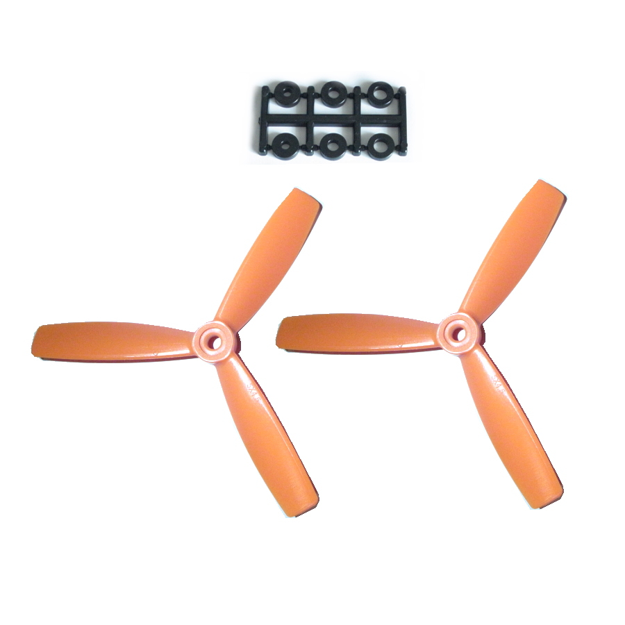 HQ-Prop 5x4.5x3 Bullnose Set (2x CCW) Orange