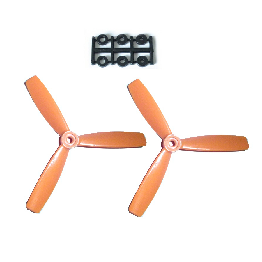 HQ-Prop 5x4.5x3 Bullnose Set (2x CW) Orange