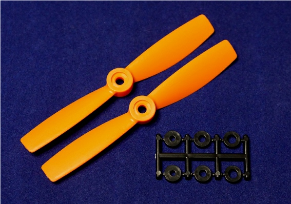 HQ-Prop 5x4.5 Bullnose Set (2x CCW) Orange